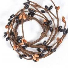 1.5 IN CANDLE RING; BLACK, TAN, 96 BERRIES