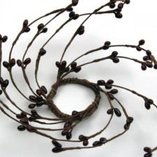 1.5 IN CANDLE RING; 96 BERRIES; BURGUNDY