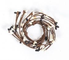 1.5 IN CANDLE RING; 115 BERRIES; BLACK, CREAM