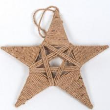 SMALL TWINE STAR, 11 IN H X 12 IN W